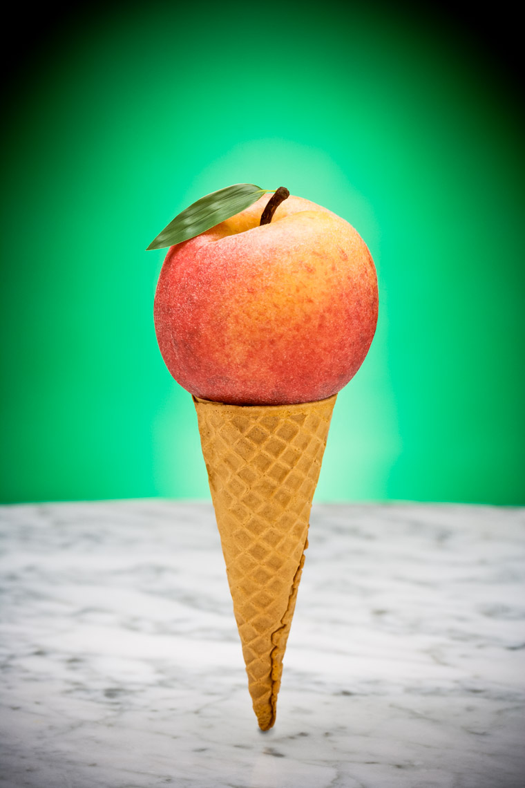 Los Angeles Photographer | Dana Hursey Photography | Food Photography | Peach Ice Cream Cone