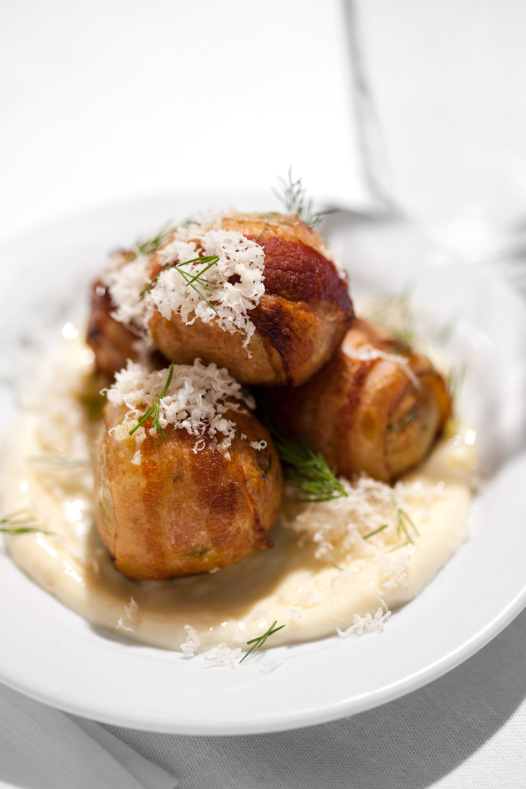 Los Angeles Photographer | Dana Hursey Photography | Food Photography | Bacon Wrapped Matzo Balls