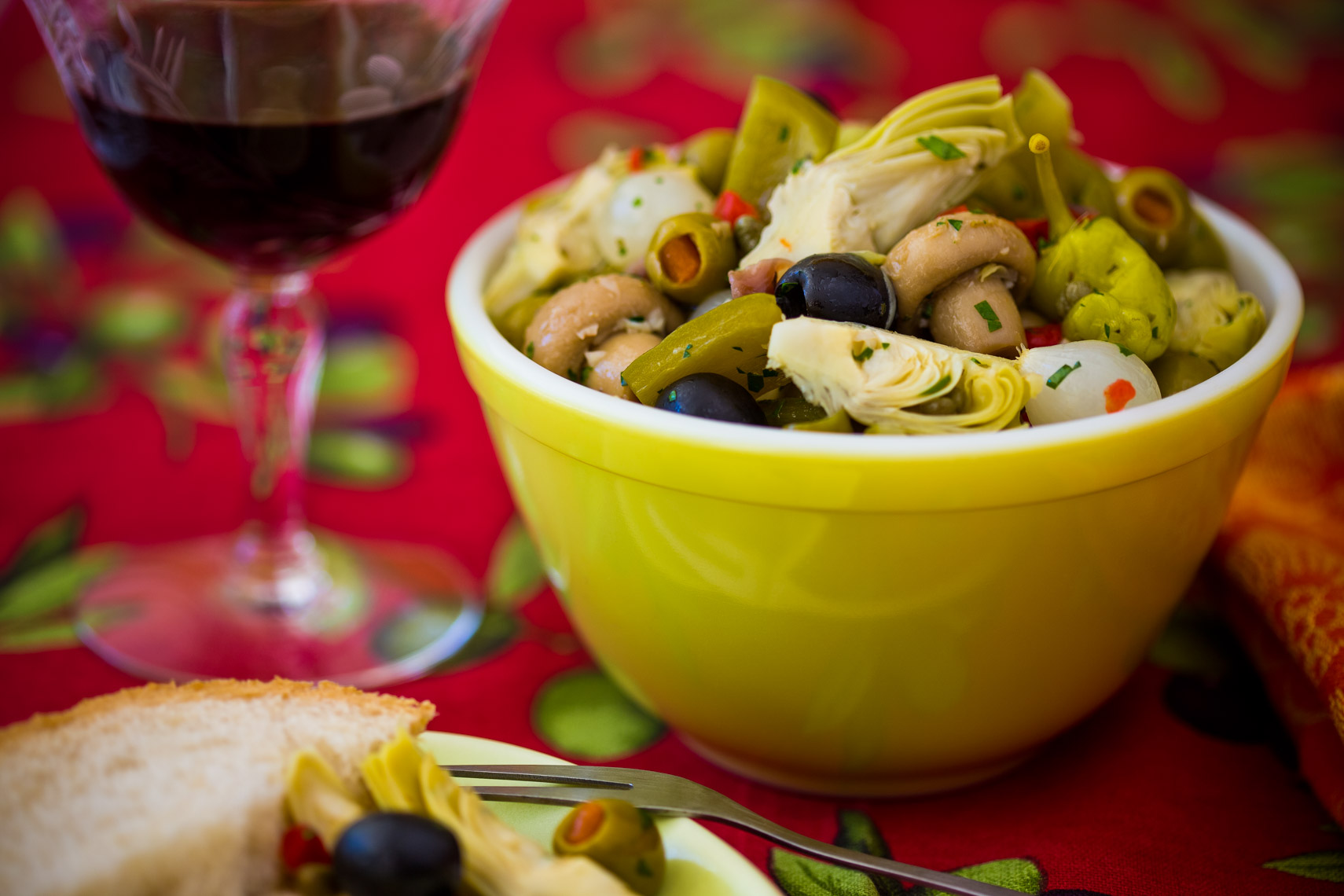Los Angeles Photographer | Dana Hursey Photography | Food Photography | Antipasto Salad