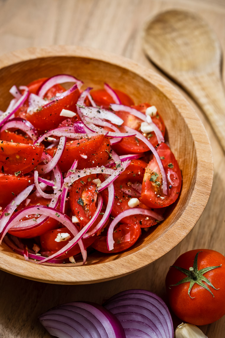 Los Angeles Photographer | Dana Hursey Photography | Food Photography | Italian Tomato and Onion Salad